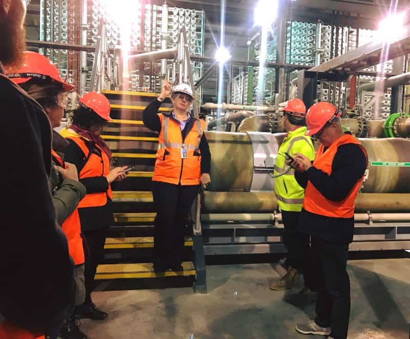 Managers from businesses visit Desal plant