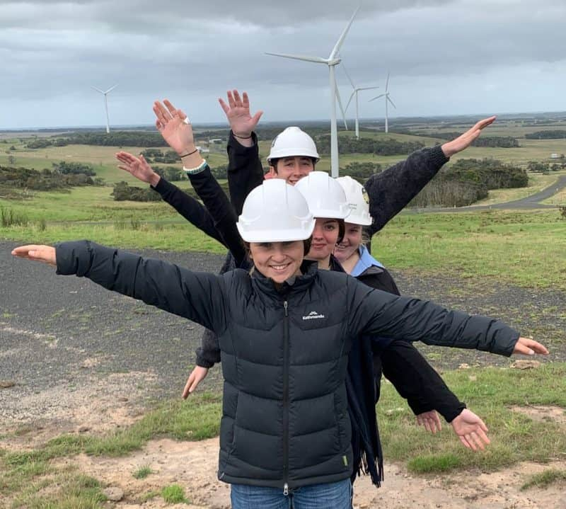 Students visit Bald Hills Wind Farm and 3MFM
