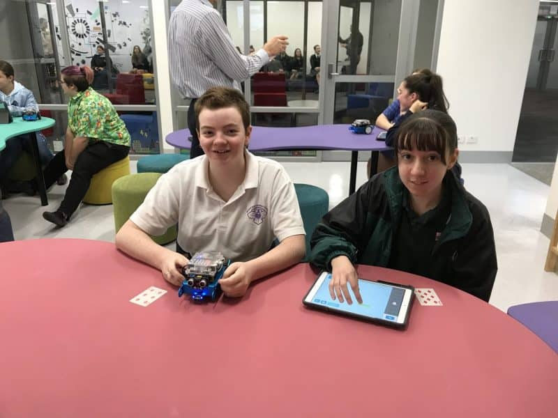 STEM Sisters code robots at Gippsland Tech School
